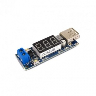 DC-DC StepDown 5V/2A - display, USB